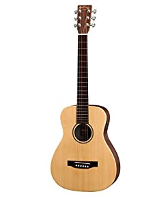 This is the Left Handed Model of Martin LX1E Little Martin in Natural Finish
