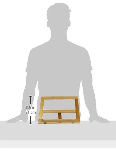 Trademark Innovations Cookbook Holder - All Natural Bamboo