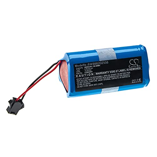 vhbw Batería recargable compatible con Cecotec Conga 890 Slim, Slim, Slim 890, Slim 890 Wet aspiradora, robot limpieza (2600 mAh, 10,8 V, Li-Ion)
