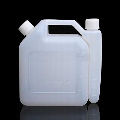 BYFRI Botella De Mezcla 2l Tiempos Aceites De Gasolina del Tanque De Combustible del Envase 25: 1 50 a 1 para La Motosierra Trimmer