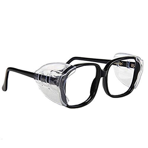 auony Schutzbrille, transparent, 2Paar, transparent, transparent, Sicherheits-glasses-fits, für mittelgroße bis große,