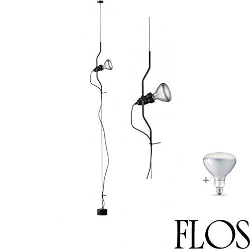 Flo 's Parentesi lámpara techo regulable negro f5600030Bombilla LED Incluida