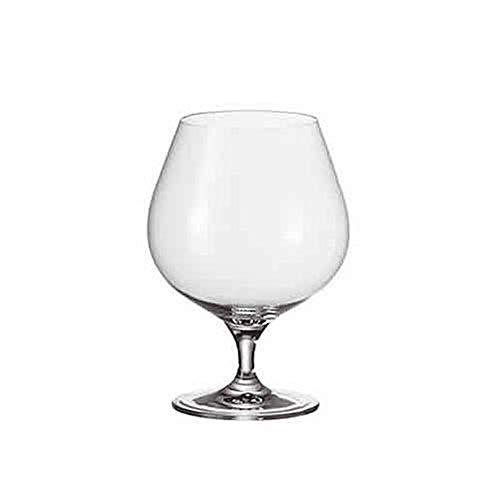 Leonardo Cheers Cognac-Gläser, 6er Set, spülmaschinenfeste Weinbrand-Gläser, Kelch-Glas mit gezogenem Stiel, Brandy Glas, Schwenker, 700 ml, 061641