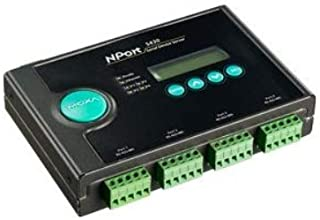4-Port RS-422/485 Device Server, 10/100M Ethernet, Terminal Block, 15KV ESD, 12-48 VDC