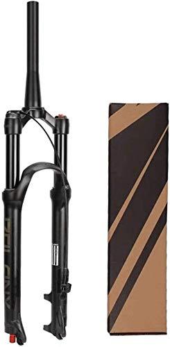 XLYYHZ 26/27,5/29 Pulgadas Horquilla de suspensión MTB para Bicicleta, Horquillas de Aire de Freno de Disco ultraligeras para Bicicleta de montaña Todo Terreno, Ciclismo Cuesta Abajo
