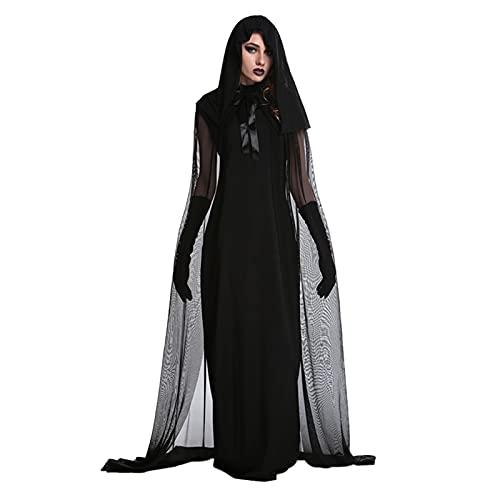 snake cat Disfraz de Halloween gótico de manga larga para mujer, ajuste delgado, con cordones, estilo Steampunk, Bruja., XXL