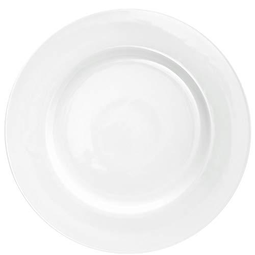 BUTLERS Puro Klassischer Teller aus Qualitätsporzellan Ø 29cm in Weiß - Essteller, Speiseteller, Porzellanteller