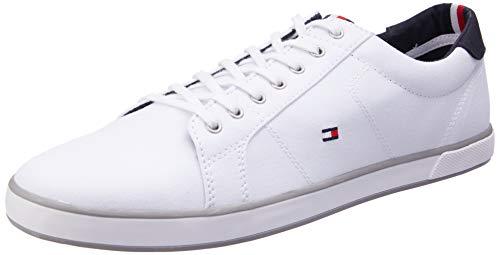Tommy Hilfiger Herren H2285arlow 1d Sneaker, Weiß Marine Grau, 43 EU