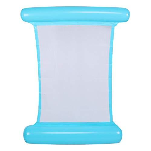 Taidda 【𝐍𝐞𝒘 𝐘𝐞𝐚𝐫 𝐃𝐞𝐚𝐥𝐬】 Hamaca de Agua, Silla Flotante de Cama Flotante Inflable para Piscina, Hamaca de Agua portátil Flotante para Adultos y niños(Azul)