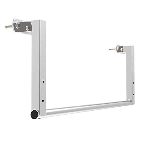 XEWNEGTZI Barra de dominadas portátil montada en la pared de acero inoxidable, multifuncional para el hogar, carga 200 kg (plata, 98/119 cm) (tamaño: 119 cm)