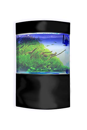 Penn-Plax Water World Luxury Large Acrylic Aquarium with Built-in Stand and Storage Top - 2 Size Options – 360° View – Great for Freshwater and Saltwater Fish (58 Gallon Bow Front (LM2))