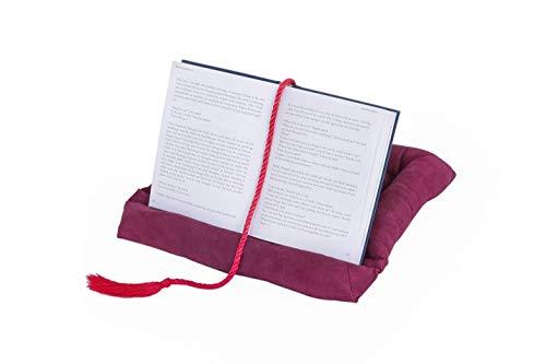 Wenko Buchkissen Lesekissen / Buchhalter fürs Bett / komfortable Lese Halterung für Tablet bei freien Händen