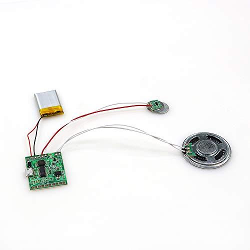 SoundGreets USB Soundmodul - Sound Datei (Mp3) bis 4 Min. Länge vom PC per USB aufspielen, Aufladbarer Akku, Top Lautsprecher - Für DIY Karten, Geschenke, Spielwaren