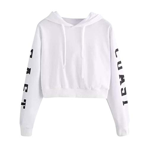 OverDose Damen Herbst Sport Style Damen Buchstaben Langarm-Hoodie Laufendes dünnes Sweatshirt Pullover Tops Bluse Wandern Anzug