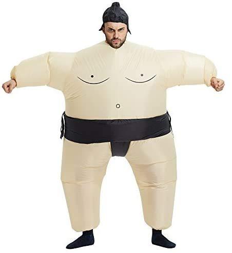 Echden Aufblasbares Kostüm Sumo Blow Up Kostüm Halloween Cosplay Kostüme Aufblasbares Cosplay Kostüm Wrestler Funny Dress(Erwachsene)