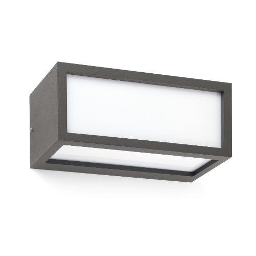Faro Barcelona TEJO 70573 - Aplique, 15 W, aluminio inyectado y difusor de opal pc, color gris