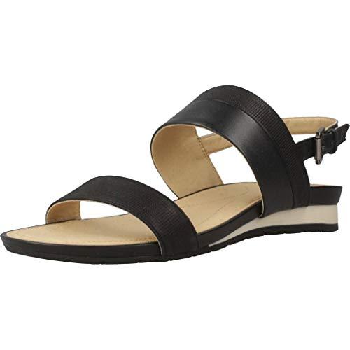 Geox Damen Sandalen Sandaletten D Formosa C Schwarz 37 EU