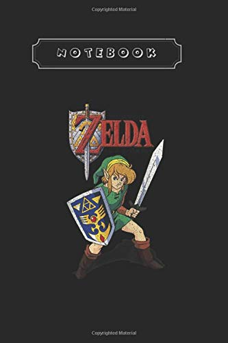 Notebook: Legend Of Zelda Link 7Th Birthday Hero Triforce Logo Notebook and Journal Wide Ruled   Size 6X 9   Blank Notebook for Taking Note