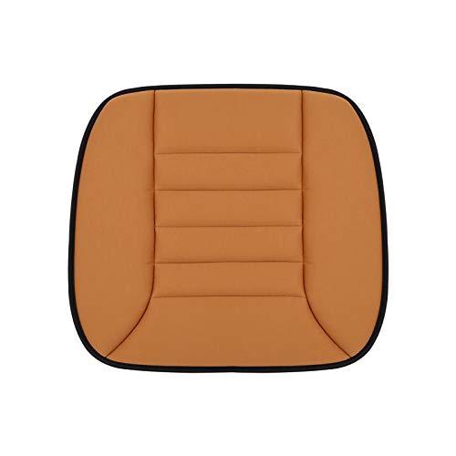 QWY-Cojin Asiento Coche, Funda Asiento Universal Súper Suave Felpa Cómodo para Vehículos,Cojín Asiento Oficina Alivio del Dolor de la Ciática (1 Pieza),Naranja