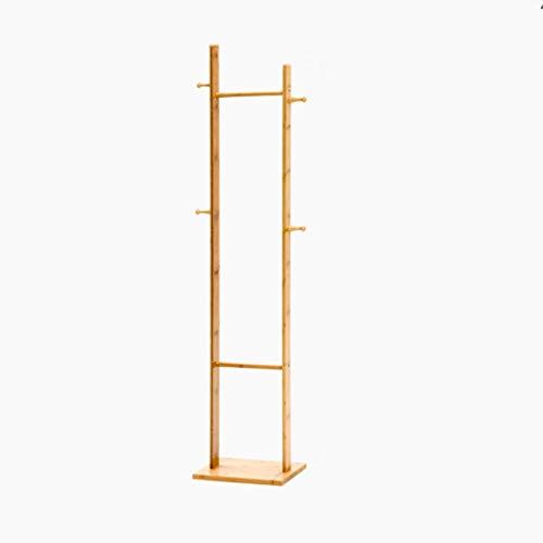 LIPENLI Moderna simple sólido Escudo de madera estante perchero de pie soporte de almacenamiento en rack Dormitorio Sala de estar Inicio de base cuadrada de la suspensión, el 163cm altura original en