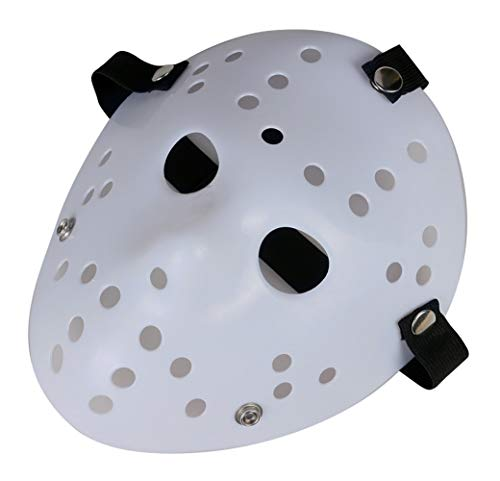 Gmasking Horror Halloween Costume Hockey Mask Party Cosplay Props (White)