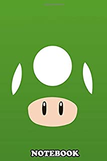 Notebook: Green Mushroom Mario Bros , Journal for Writing, College Ruled Size 6