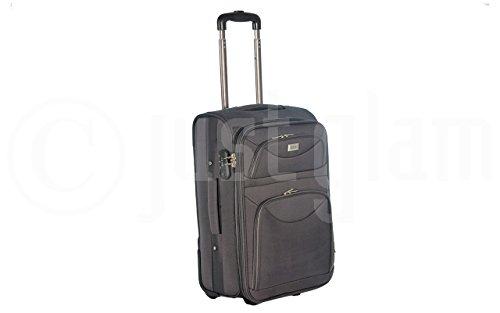 Trolley da cabina cm.55 valigia tessuto 2 ruote compatibile voli lowcost come easyjet rayanair art 1222 / grigio