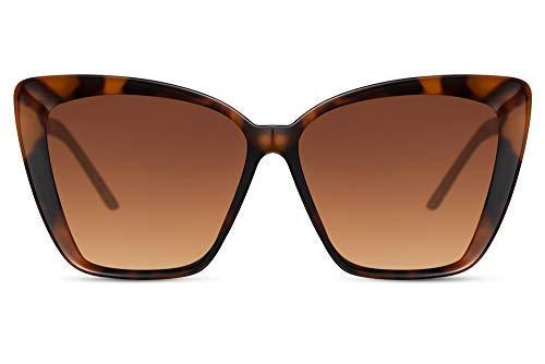 Cheapass Gafas de Sol Large Ojo de gato Mariposa Moderno Mujeres Estilo con Metálicas Patillas UV400 protegidas