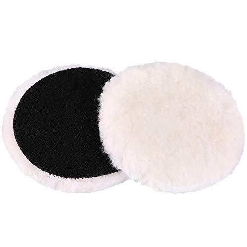 LotFancy 6-Inch Wool Buffing Pads