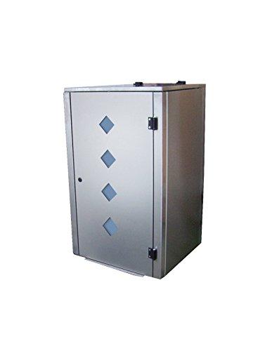 Mülltonnenbox Edelstahl, Modell Eleganza Raut als Dreierbox für drei 240 Liter Tonnen - 3