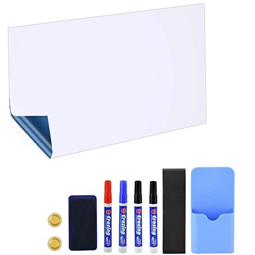 POPRUN Magnettafel selbstklebende Magnetfolie Whiteboard magnetische Tafelfolie trocken abwischbare Ferrofolie für Magneten