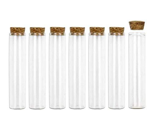 ericotry 10 Stück 40 ml Glasfläschchen Gläser Reagenzglas mit Korkstopfen leere nachfüllbare Reagenzflaschen Gläser auslaufsicher für Kosmetik, Tee, Kräuter, Pillen, ätherisches Öl, Pulver