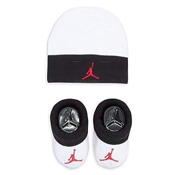 Nike Jordan Infant Baby Hat and Booties Set  Black LJ0102-001 /White 0-6 Months