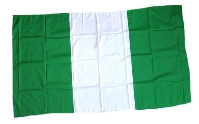 Fahne Stockflagge Nigeria NEU 30 x 45 cm Flagge