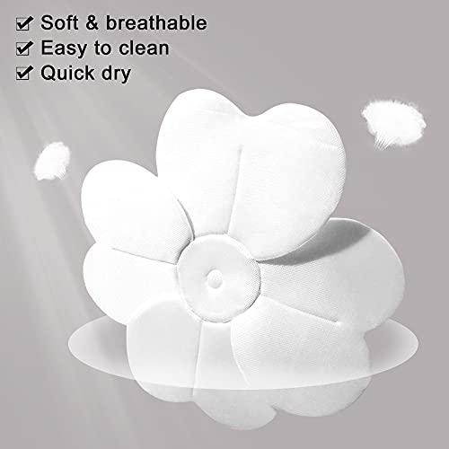 Baby Bath Flower for Sink Insert Soft Bath Lotus Flower Petals Baby Bath Pad Flower Shape Support for 0-6 Months Grey