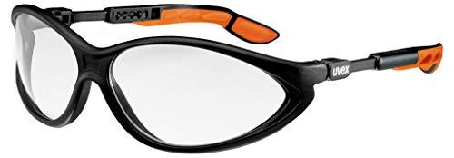 Uvex Cybric Veiligheidsbril aan beide zijden die geen beslaan - Transparante schijf, zwart