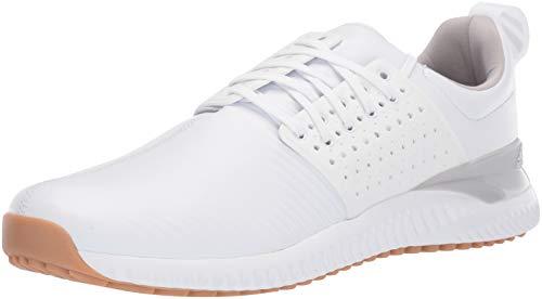 adidas Men's Adicross Bounce Golf Shoe, FTWR White/Grey Two/Gum, 10.5 M US
