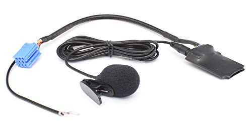 BlueMusic Bluetooth Freisprechen Audio Adapter kompatibel mit 8pin Mini-ISO Audi Chorus 2, Concert Symphony Navigation Plus 1/2, RNS-D - VW Gamma 5 MCD MFD 1 - SEAT Alana Aura - Skoda MFD1 Symphony