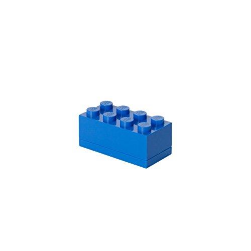 LEGO - Mini caja de almuerzo 8, color azul (Room Copenhagen A/S 4012)