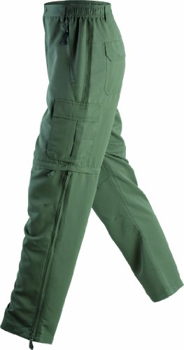 James & Nicholson Herren Sporthose Hose Men's Zip-Off Pants grün (dusty-olive) XXX-Large