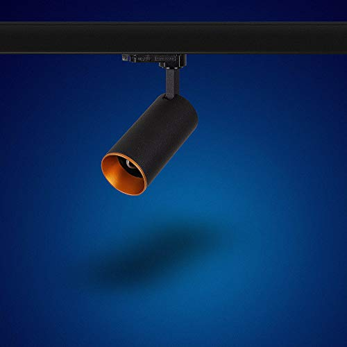 Mextronic GU10 3-PHASEN-STRAHLER Dreh- und schwenkbarer für GU10 Leuchtmittel LED 3 Phasen Leuchte Genius L503 für Schienensystem