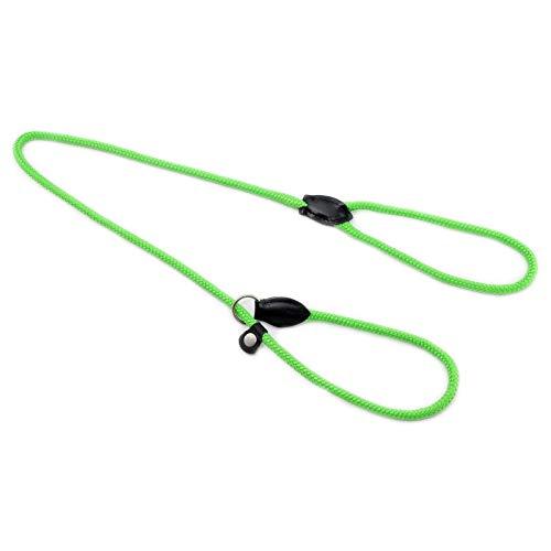 Monkimau Retrieverleine Hundeleine für Hunde mit Handgriff verstellbar (neon grün)
