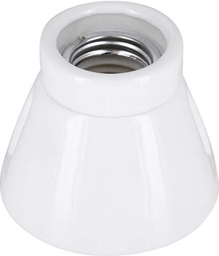 Premium Aufbauleuchte E27 230V Porzellan Keramik - High Frequency - max. 1000W - Glasur weiß