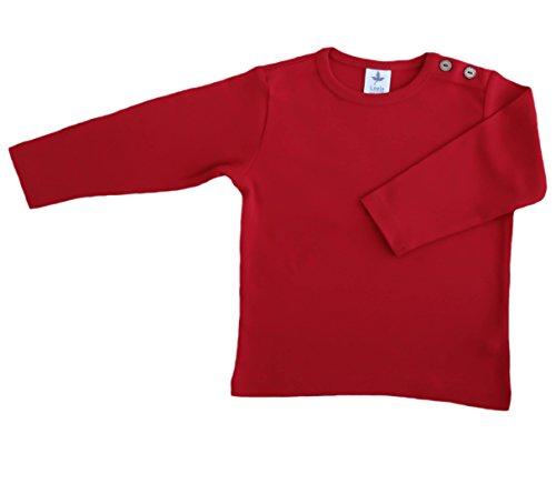 Leela Cotton Baby/Kinder Langarm-Shirt Bio-Baumwolle, Ziegelrot, Gr. 86/92
