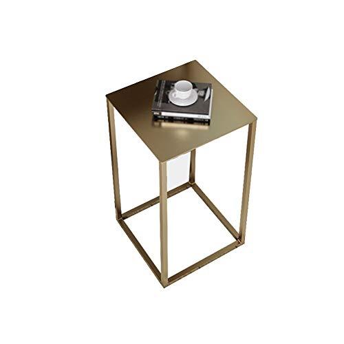 Computerbureau sofa tafel, woonkamer slaapkamer, eenvoudige bijzettafel, smeedijzeren bloemenstandaard, indoor bloempot rek (kleur: zwart, maat: C) A goud