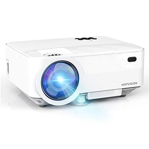 """HOPVISION Mini Proiettore 1080P Full HD,Video Proiettore Portatile 5000 Lumen con Display da 180"""",Proiettore LED per 60000 ore,Compatibile con HDMI/AV/USB/SD/VGA"""