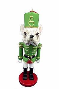 E&S Imports French Bulldog Ornament Nutcracker