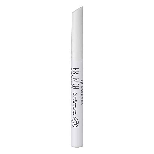 essence FRENCH manicure & pedicure pen, French Maniküre, Nr. 01 white, weiss, ohne Aceton, vegan, ohne Alkohol (3ml)