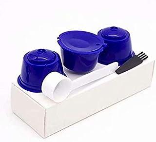 C/ápsulas de Caf/é Vainas 3 Unidades Reutilizable Universal Dolce Gusto M/áquina Filtro de Caf/é sin BPA con Cuchara y Cepillo 3 Pcs C/ápsulas de Caf/é Reutilizable