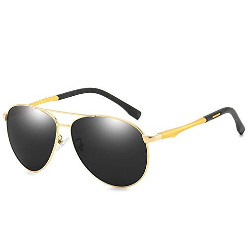 Gafas de sol polarizadas de aleación redonda estilo Steampunk retro Gafas de sol polarizadas UV400, Gafas de sol polarizadas para exteriores, para conducir, pescar, correr, ciclismo, esquí, golf, D
